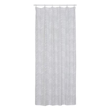 Штора на ленте Лаконичность 140х260 см цвет серый