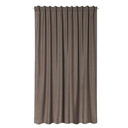 Штора на ленте Лукс 200х260 см цвет серо-коричневый цена