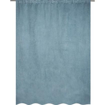 Штора на ленте Нью Манчестер 200х280 см цвет голубой цена