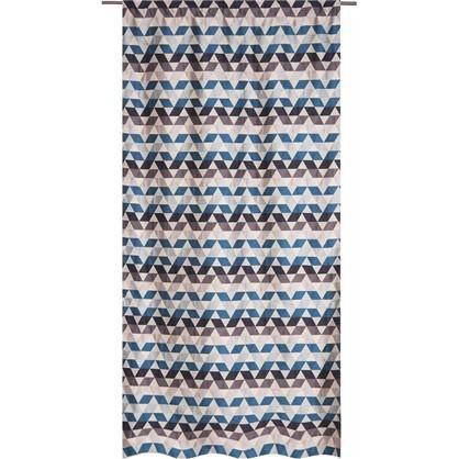 Штора на ленте Охара 140х280 см цвет синий цена