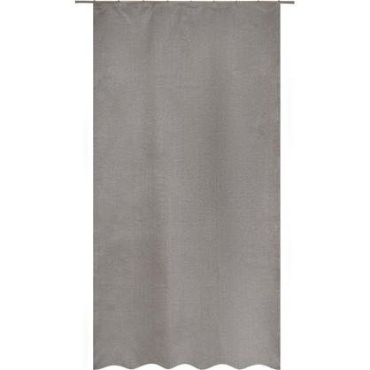 Штора на ленте Satka 140х260 см жаккард цвет серый экрю