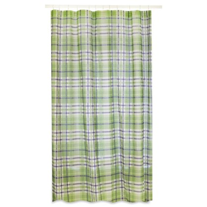 Штора на ленте Села 160х180 см цвет зеленый цена