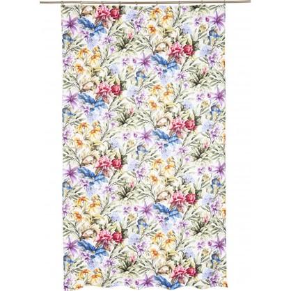 Штора на ленте Сиреневые цветы 140х260 см цвет сиреневый