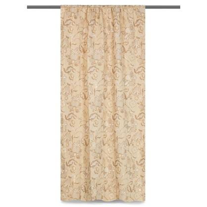 Штора на ленте Тюдоры 145х280 см цвет светло-бежевый цена