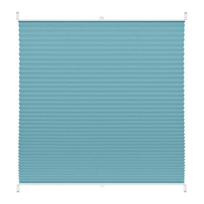 Штора плиссе Плайн 35х160 см текстиль цвет бирюзовый