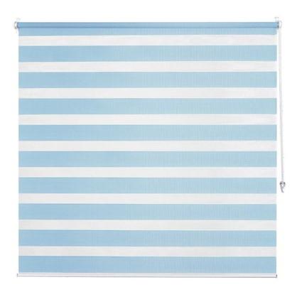 Штора рулонная день-ночь Inspire 40х160 см цвет голубой