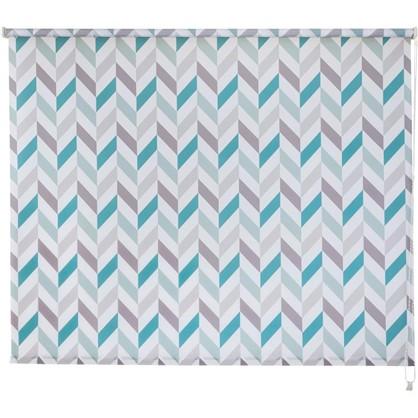 Штора рулонная Геометрия 140х175 см цвет бирюзовый цена