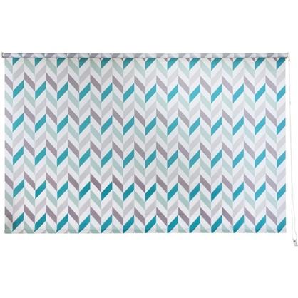 Штора рулонная Геометрия 180х175 см цвет бирюзовый цена