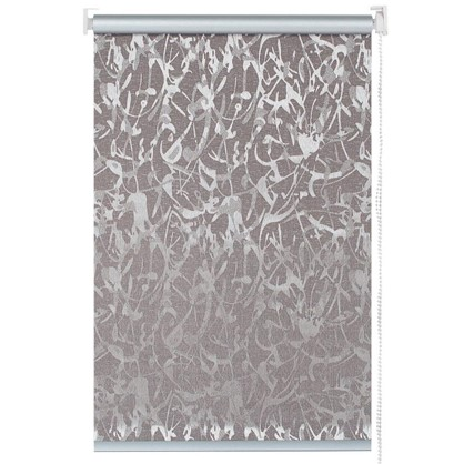 Штора рулонная Муар 50х175 см цвет коричневый