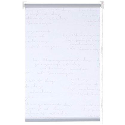 Штора рулонная Письмо 140х175 см цвет белый цена