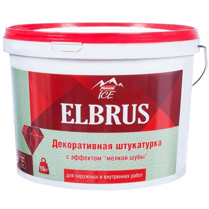 Штукатурка декоративная Parade Ice Elbrus 15 кг цвет белый цена