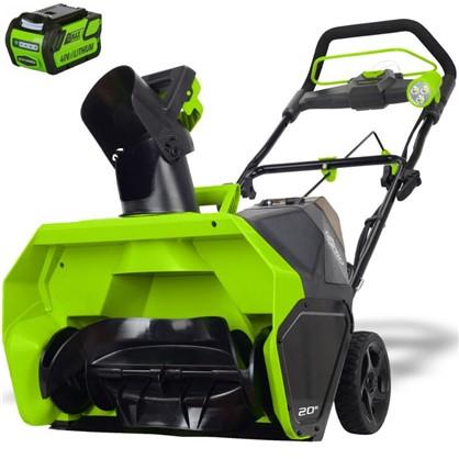 Снегоуборщик GreenWorks аккумуляторный 40 В 4 Ah безщёточный двигатель зарядное устройство в комплекте в