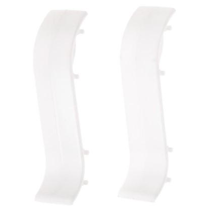 Соединитель для плинтуса 55 мм цвет белый 2 шт. цена