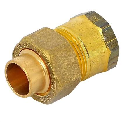 Соединитель пайка 15 мм x 1/2 разъем внутренняя резьба медь цена