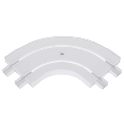Соединитель поворотный двухрядный Inspire внешний пластик цвет белый