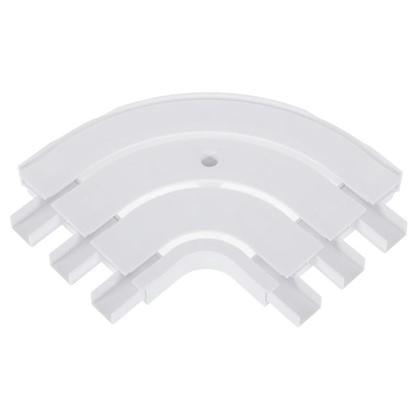 Соединитель поворотный трехрядный Inspire внутренний пластик цвет белый