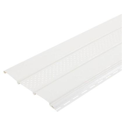 Софит ПВХ с перфорацией 2700х300 мм белый 0.81 м2