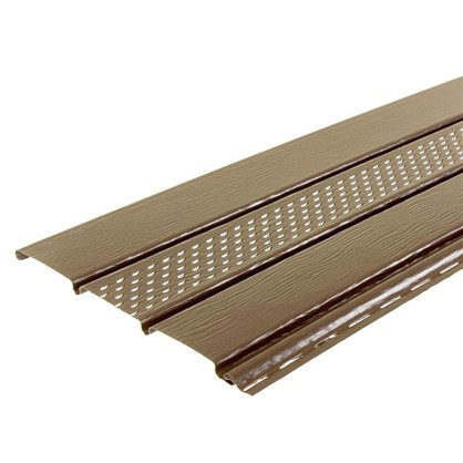 Софит ПВХ с перфорацией 2700х300 мм темно-коричневый 0.81 м2 цена
