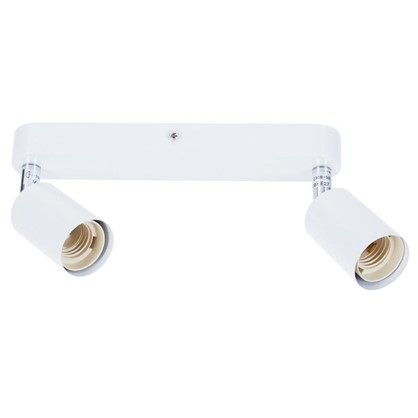 Спот Basico 2xE27x60 Вт металл цвет белый цена
