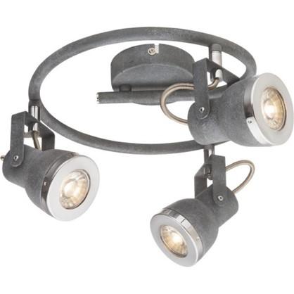 Спот GLOBO 57000-3 GU10 3x50W серый цена