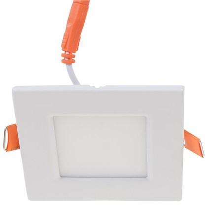 Спот светодиодный врезной квадратный 3 Вт 4000K 85 см цвет белый свет холодный белый