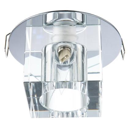 Спот встраиваемый Crystals куб цоколь G9 40 Вт цвет хром/прозрачный цена