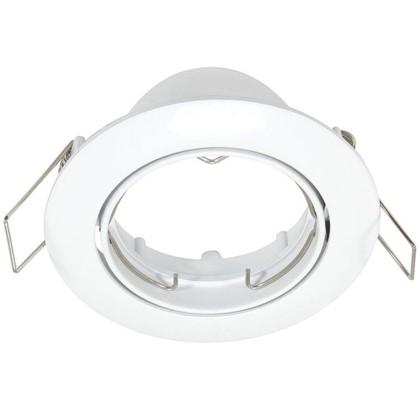 Спот встраиваемый поворотный круглый цоколь GU5.3 алюминий цвет белый цена