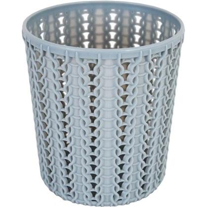 Стакан для зубных щеток Вязание 100х110 мм цвет серый цена