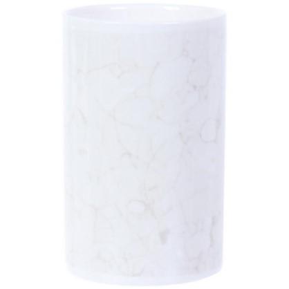 Стакан для зубных щеток Marmo керамика цвет белый цена