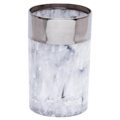 Стакан для зубных щеток настольный Allure полистирол цвет серый цена