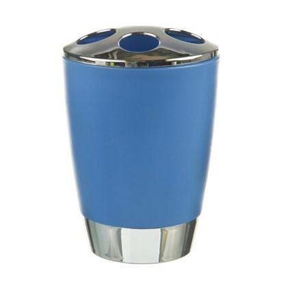 Стакан для зубных щеток настольный Альма пластик цвет синий