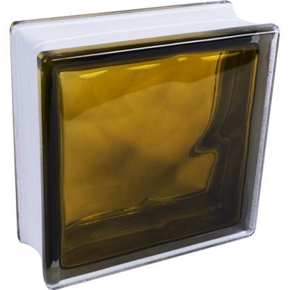 Стеклоблок Богема Волна цвет ярко-бронзовый цена