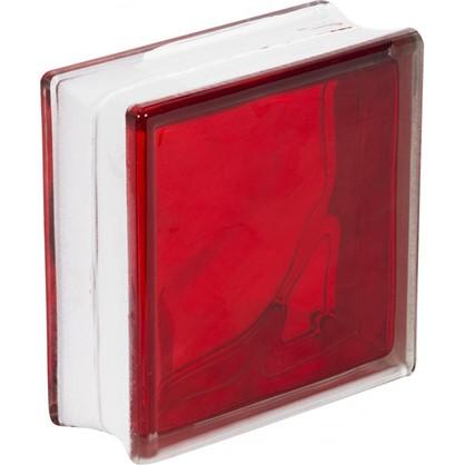 Стеклоблок Богема Волна цвет ярко-рубиновый цена