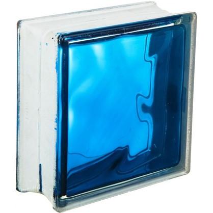 Стеклоблок Богема Волна цвет ярко-синий