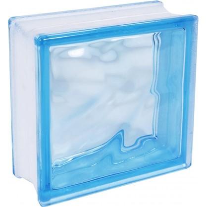 Стеклоблок Богема Волна окрашенный в массе цвет голубой цена