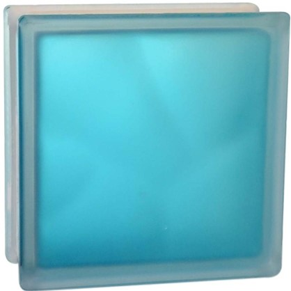 Стеклоблок Волна цвет ярко-бирюзовый полуматовый цена