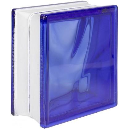 Стеклоблок Волна окрашенный в массе цвет синий цена