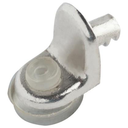 Стеклодержатель мебельный Г-образный с присоской металл цвет хром 4 шт.