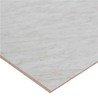 Стеновая панель 3014 60х0.6x300 см ДСП цвет мрамор каррара цена