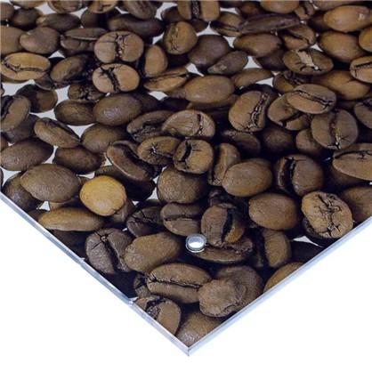 Стеновая панель Кофе 90x0.6x60 см стекло цвет бело-коричневый цена