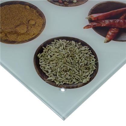 Стеновая панель Специи 90x0.6x60 см стекло цвет бело-коричневый цена