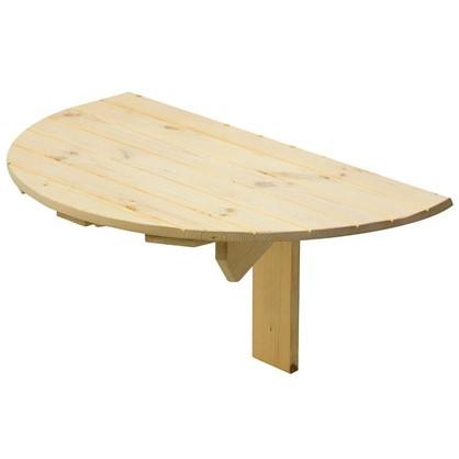 Стол навесной пристенный откидывающийся полукруглый 80x42x50 см цена