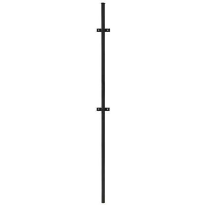 Столб для забора с планкой (ушами) высота 2.3 м диаметр 40 мм цвет чёрный цена
