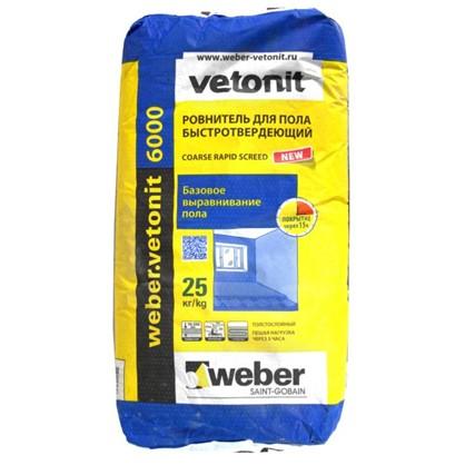 Стяжка пола Weber Vetonit 6000 25 кг цена