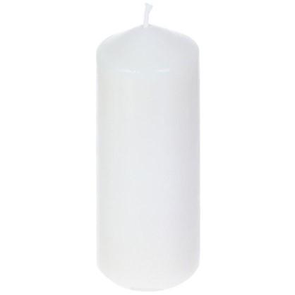 Свеча-столбик 6х15 см цвет белый цена