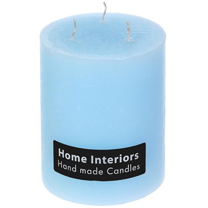 Свеча-столбик Рустик 10х12 см цвет голубой цена