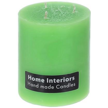 Свеча-столбик Рустик 10х12 см цвет зелёный цена