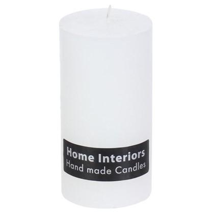 Свеча-столбик Рустик 7х13 см цвет белый цена