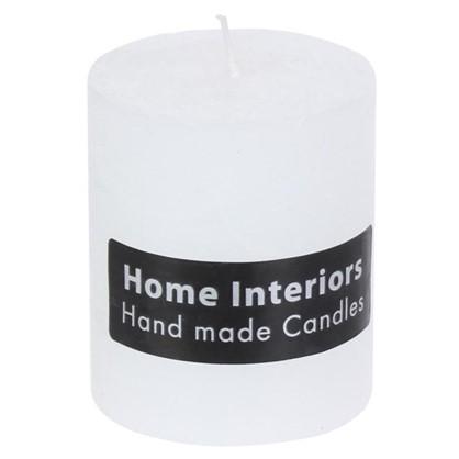 Свеча-столбик Рустик 7х8 см цвет белый цена