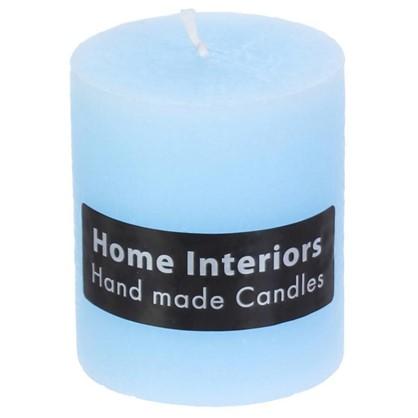 Свеча-столбик Рустик 7х8 см цвет голубой цена